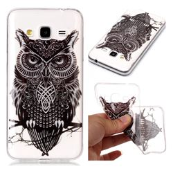 Staring Owl Super Clear Soft TPU Back Cover for Samsung Galaxy J3 2016 J320
