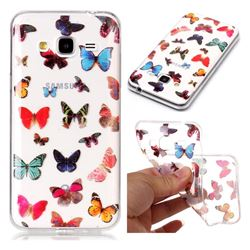 Colorful Butterfly Super Clear Soft TPU Back Cover for Samsung Galaxy J3 2016 J320