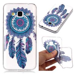 Blue Wind Chimes Super Clear Soft TPU Back Cover for Samsung Galaxy J3 2016 J320