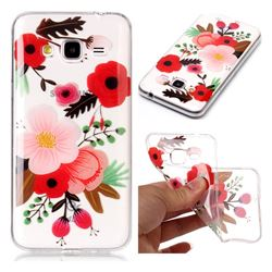 Painting Flowers Super Clear Soft TPU Back Cover for Samsung Galaxy J3 2016 J320