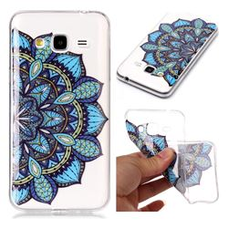 Peacock flower Super Clear Soft TPU Back Cover for Samsung Galaxy J3 2016 J320