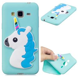 Blue Hair Unicorn Soft 3D Silicone Case for Samsung Galaxy J3 2016 J320