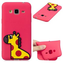 Yellow Giraffe Soft 3D Silicone Case for Samsung Galaxy J3 2016 J320