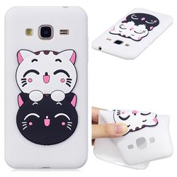 Couple Cats Soft 3D Silicone Case for Samsung Galaxy J3 2016 J320