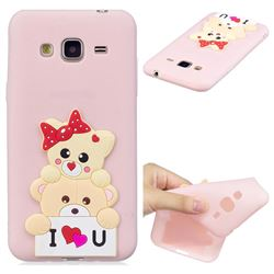 Love Bear Soft 3D Silicone Case for Samsung Galaxy J3 2016 J320