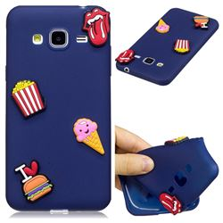 I Love Hamburger Soft 3D Silicone Case for Samsung Galaxy J3 2016 J320