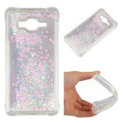 Dynamic Liquid Glitter Sand Quicksand Star TPU Case for Samsung Galaxy J3 2016 J320 - Pink