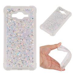 Dynamic Liquid Glitter Sand Quicksand Star TPU Case for Samsung Galaxy J3 2016 J320 - Silver