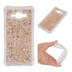 Dynamic Liquid Glitter Sand Quicksand Star TPU Case for Samsung Galaxy J3 2016 J320 - Diamond Gold
