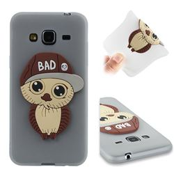 Bad Boy Owl Soft 3D Silicone Case for Samsung Galaxy J3 2016 J320 - Translucent White