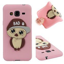 Bad Boy Owl Soft 3D Silicone Case for Samsung Galaxy J3 2016 J320 - Pink