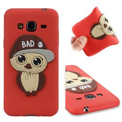 Bad Boy Owl Soft 3D Silicone Case for Samsung Galaxy J3 2016 J320 - Red