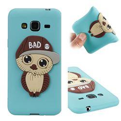 Bad Boy Owl Soft 3D Silicone Case for Samsung Galaxy J3 2016 J320 - Sky Blue