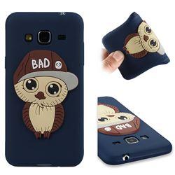 Bad Boy Owl Soft 3D Silicone Case for Samsung Galaxy J3 2016 J320 - Navy