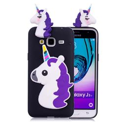 Unicorn Soft 3D Silicone Case for Samsung Galaxy J3 2016 J320 - Black