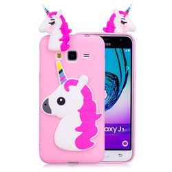 Unicorn Soft 3D Silicone Case for Samsung Galaxy J3 2016 J320 - Rose