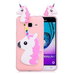 Unicorn Soft 3D Silicone Case for Samsung Galaxy J3 2016 J320 - Pink