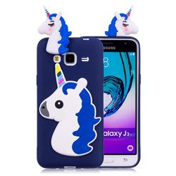 Unicorn Soft 3D Silicone Case for Samsung Galaxy J3 2016 J320 - Dark Blue
