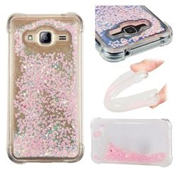 Dynamic Liquid Glitter Sand Quicksand TPU Case for Samsung Galaxy J3 2016 J320 - Silver Powder Star