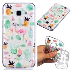 Cactus Flamingos Super Clear Soft TPU Back Cover for Samsung Galaxy J3 2016 J320