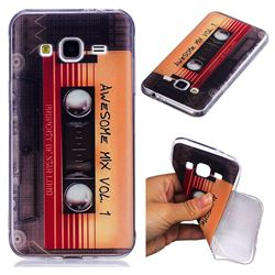 Retro Cassette Tape Super Clear Soft TPU Back Cover for Samsung Galaxy J3 2016 J320