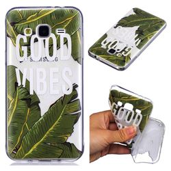 Good Vibes Banana Leaf Super Clear Soft TPU Back Cover for Samsung Galaxy J3 2016 J320