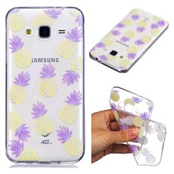Carton Pineapple Super Clear Soft TPU Back Cover for Samsung Galaxy J3 2016 J320