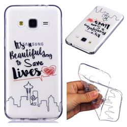 Line Castle Super Clear Soft TPU Back Cover for Samsung Galaxy J3 2016 J320