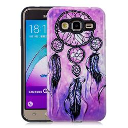 Starry Wind Chimes Pattern 2 in 1 PC + TPU Glossy Embossed Back Cover for Samsung Galaxy J3 2016 J320