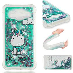 Tiny Unicorn Dynamic Liquid Glitter Sand Quicksand Star TPU Case for Samsung Galaxy J3 2016 J320
