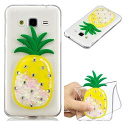 White Pineapple Liquid Quicksand Soft 3D Cartoon Case for Samsung Galaxy J3 2016 J320