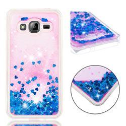 Dynamic Liquid Glitter Quicksand Sequins TPU Phone Case for Samsung Galaxy J3 2016 J320 - Blue