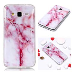 Red Grain Soft TPU Marble Pattern Phone Case for Samsung Galaxy J3 2016 J320