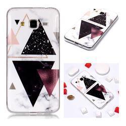 Four Triangular Soft TPU Marble Pattern Phone Case for Samsung Galaxy J3 2016 J320