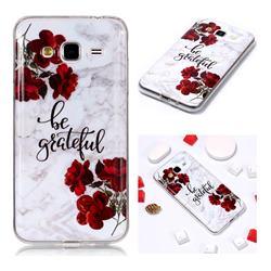 Rose Soft TPU Marble Pattern Phone Case for Samsung Galaxy J3 2016 J320