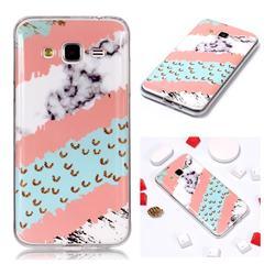 Diagonal Grass Soft TPU Marble Pattern Phone Case for Samsung Galaxy J3 2016 J320