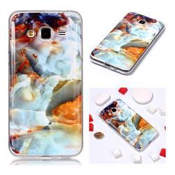 Fire Cloud Soft TPU Marble Pattern Phone Case for Samsung Galaxy J3 2016 J320