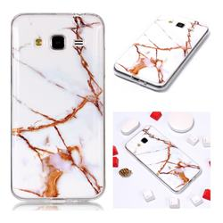 Platinum Soft TPU Marble Pattern Phone Case for Samsung Galaxy J3 2016 J320