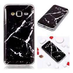 Black Rough white Soft TPU Marble Pattern Phone Case for Samsung Galaxy J3 2016 J320