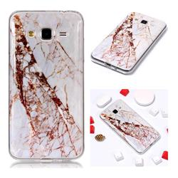 White Crushed Soft TPU Marble Pattern Phone Case for Samsung Galaxy J3 2016 J320