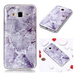 Light Gray Soft TPU Marble Pattern Phone Case for Samsung Galaxy J3 2016 J320