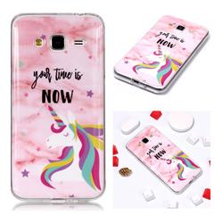 Unicorn Soft TPU Marble Pattern Phone Case for Samsung Galaxy J3 2016 J320