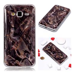 Brown Soft TPU Marble Pattern Phone Case for Samsung Galaxy J3 2016 J320