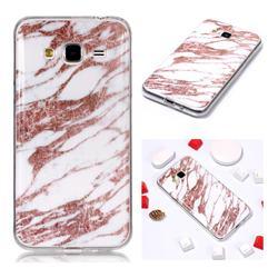 Rose Gold Grain Soft TPU Marble Pattern Phone Case for Samsung Galaxy J3 2016 J320