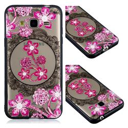 Daffodil Lace Diamond Flower Soft TPU Back Cover for Samsung Galaxy J3 2016 J320