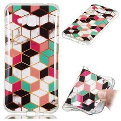 Three-dimensional Square Soft TPU Marble Pattern Phone Case for Samsung Galaxy J3 2016 J320
