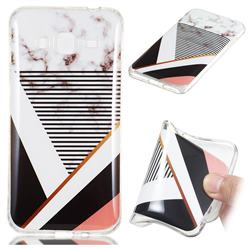 Pinstripe Soft TPU Marble Pattern Phone Case for Samsung Galaxy J3 2016 J320