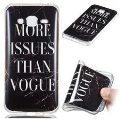Stylish Black Soft TPU Marble Pattern Phone Case for Samsung Galaxy J3 2016 J320
