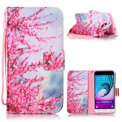 Plum Flower Leather Wallet Phone Case for Samsung Galaxy J3