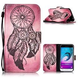 Wind Chimes Leather Wallet Phone Case for Samsung Galaxy J3